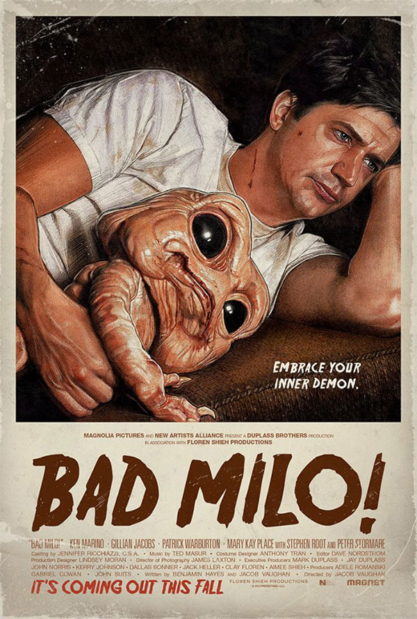 badmilo - Bad Milo Variant Poster Answers the Age-Old 'Over or Under' Question