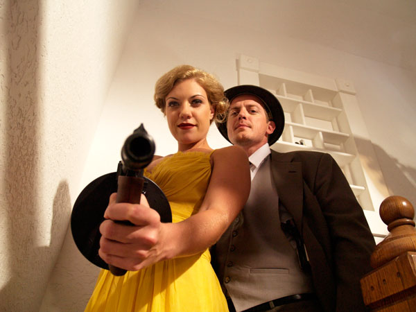 Stick 'Em Up for New Stills from Bonnie and Clyde vs. Dracula