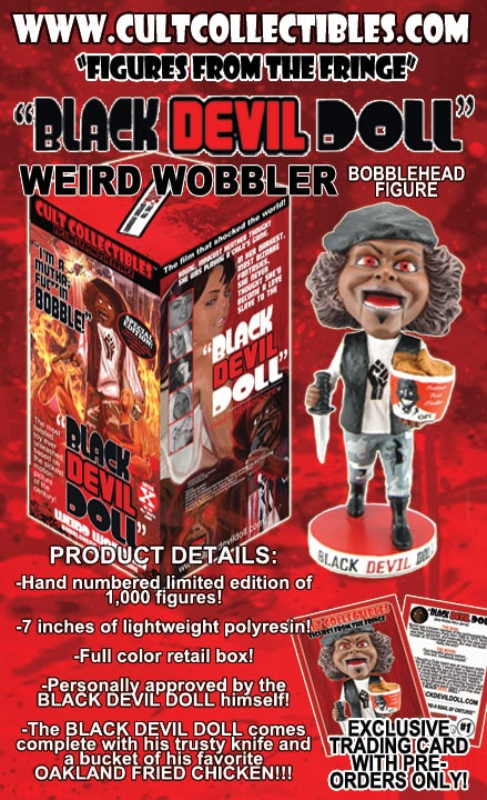 Black Devil Doll Ready to Snuff Yo' Other Bobbleheads