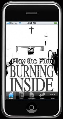 Indie Film Burning Inside Now Available as a Mobile App