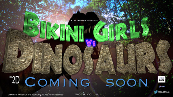 Shooting Wraps on Bikini Girls vs. Dinosaurs; First Details, Photos, and Teaser Art