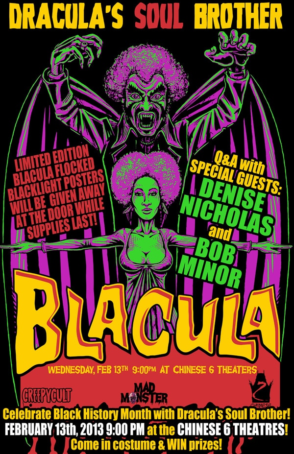 Mad Monster Hosts Blacula Screening and Q&A with Special Guests on February 13th