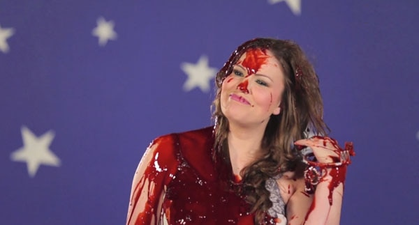 blood dump 10 - Dread Central Gore Whore Vanessa Gomez Gets Bloody for Carrie