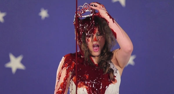 blood dump 8 - Dread Central Gore Whore Vanessa Gomez Gets Bloody for Carrie