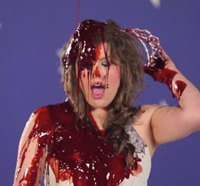 Dread Central Gore Whore Vanessa Gomez Gets Bloody for Carrie
