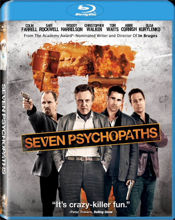 Seven Psychopaths - Specs and Home Video Artwork