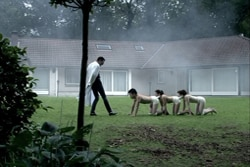 The Human Centipede (First Sequence) on Blu-ray and DVD (click for larger image)