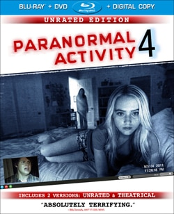 Paranormal Activity 4 on Blu-ray and DVD (click for larger image)