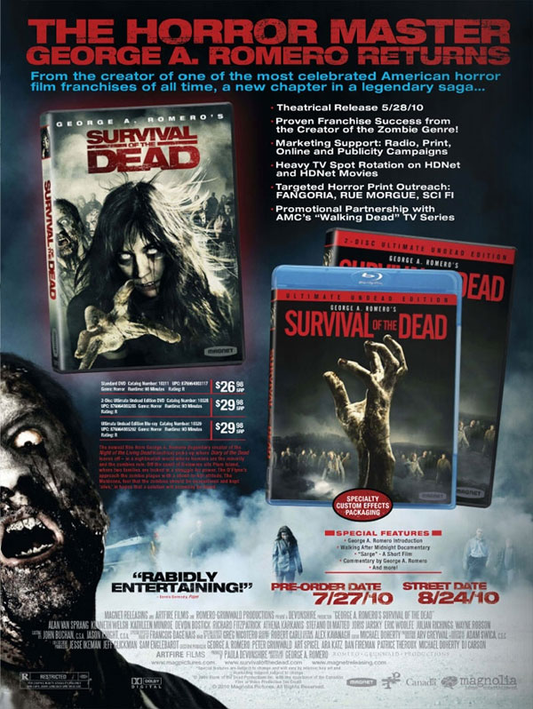 George A. Romero's Survival of the Dead on DVD and Blu-ray August 24th