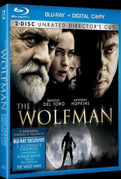 The Wolfman  on Blu-ray and DVD (click for larger image)