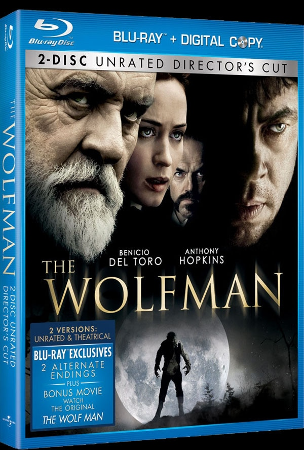 The Wolfman Blu-ray and DVD Art and Specs