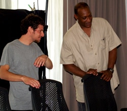 Seth Landau/Tony Todd between takes