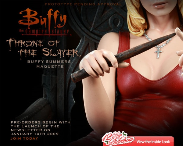Throne of the Slayer - Buffy Summers Maquette Available for Pre-Order Next Week