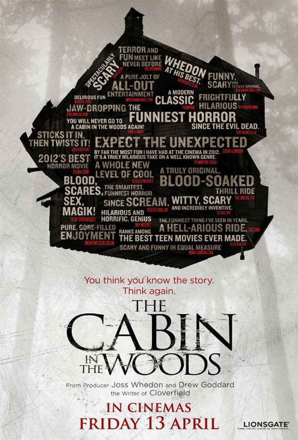 Cabin in the Woods UK One-Sheet Has LOTS to Say