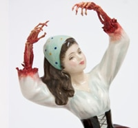 Artist Jessica Harrison Colors Her Ceramic Statues Blood Red