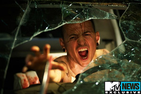 New Saw 3D Image Tortures Linkin Park's Chester Bennington