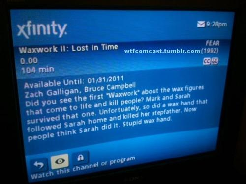 Comcast Gets Comically Descript with Horror
