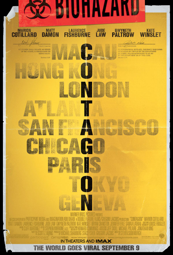 Second Teaser One-Sheet Debuts for Contagion