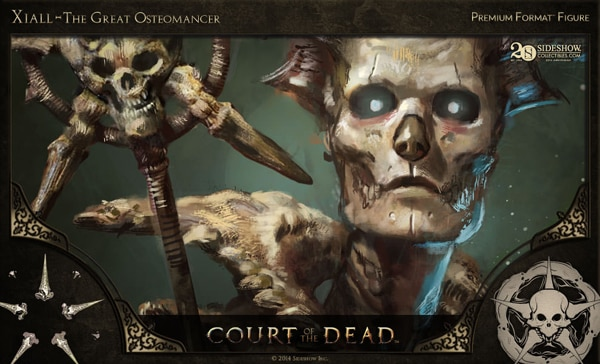 #SDCC14: Get a Sneak Peek of Sideshow's New Court of the Dead Figures in this Concept Art and Making-of Video - Xiall – The Great Osteomancer