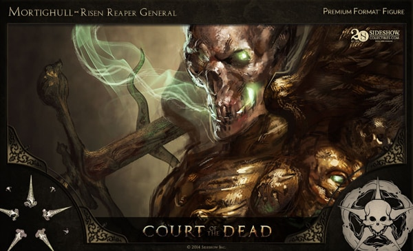 #SDCC14: Get a Sneak Peek of Sideshow's New Court of the Dead Figures in this Concept Art and Making-of Video - Mortighull – Risen Reaper General