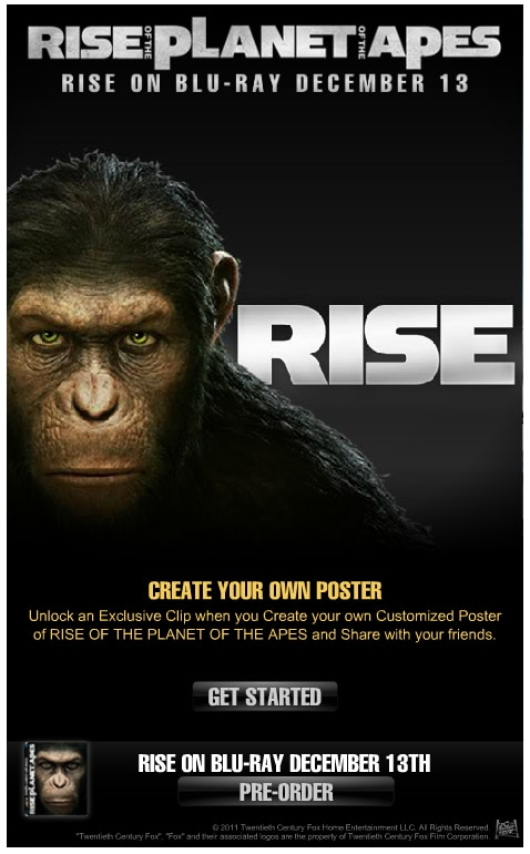 Create Your Own Rise of the Planet of the Apes Poster and Unlock an Exclusive Clip