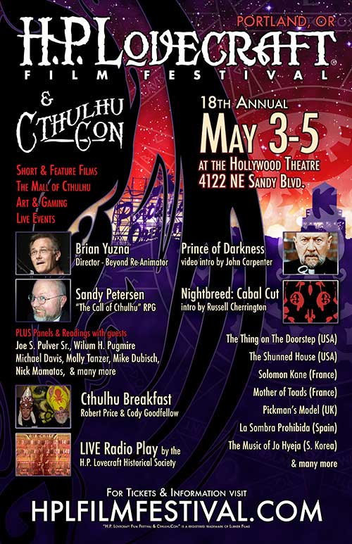 cthulhucon - H.P. Lovecraft Film Festival and CthulhuCon Home to the Portland Premiere of Epic Valdemar Legacy