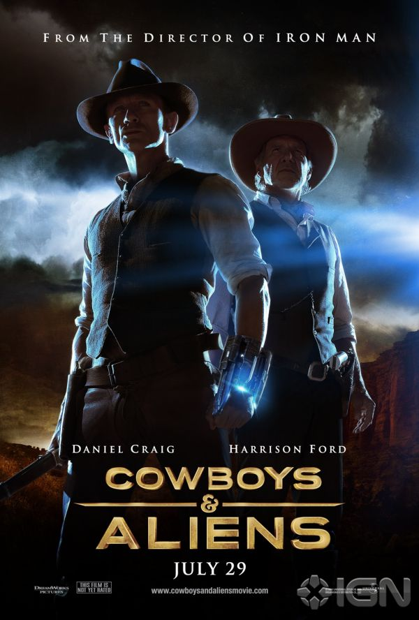 New Cowboys & Aliens One-Sheet Offers Double Trouble