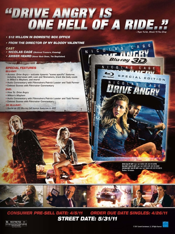 First Word: Drive Angry Crashing onto Blu-ray and DVD May 31st