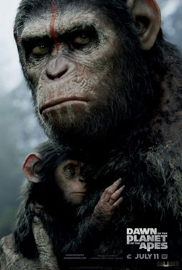 dawn of the planet of the apes poster - Badass New Dawn of the Planet of the Apes Poster Rides in on Horseback