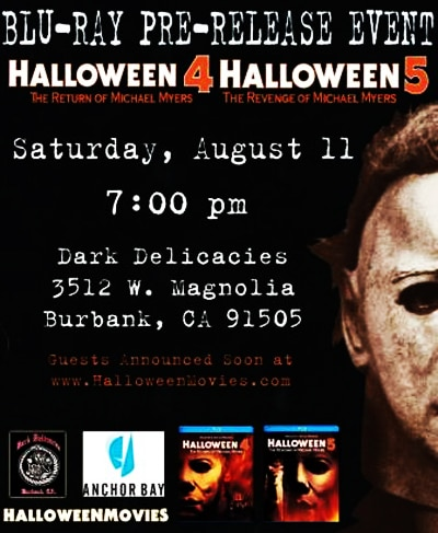 Dark Delicacies to Host Halloween 4 & 5 Blu-ray Release Event on August 11