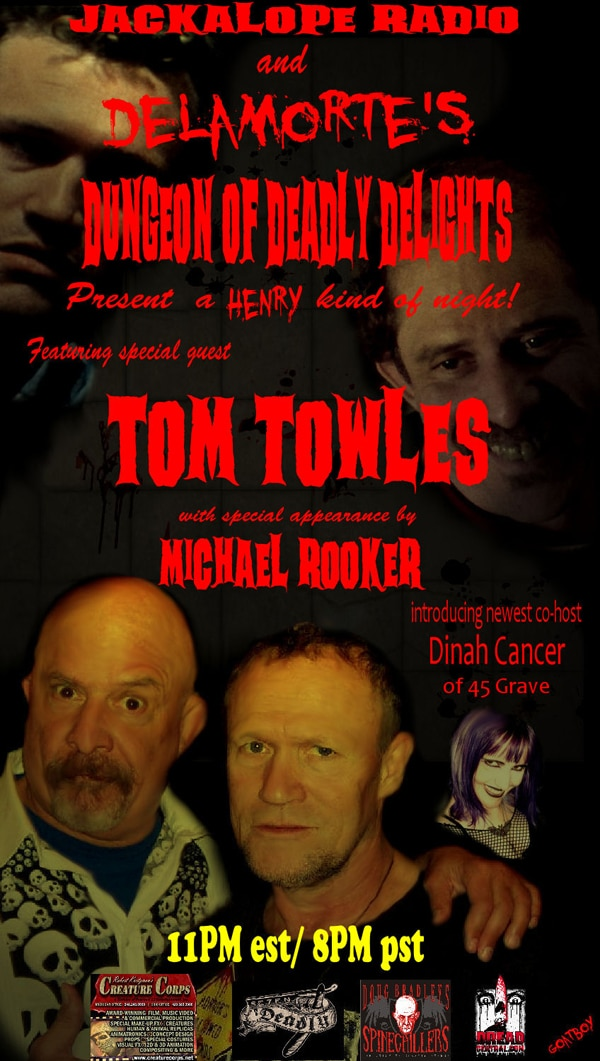 Tom Towles and Michael Rooker Enter Delamorte's Dungeon of Deadly Delights