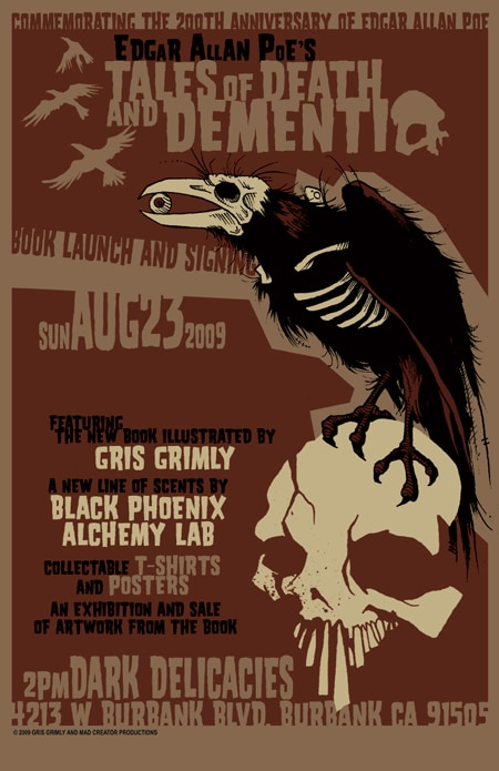 Gris Grimley's Poe-Illustrated Book Launch
