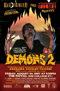 Demons 2 in Toronto! (click to see it bigger)