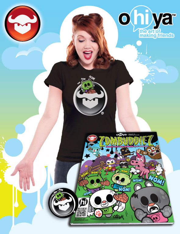 devilsdue - San Diego Comic-Con 2012: Devil's Due and Ohiya to Unveil New Zombuddiez Comic and Limited Edition T-Shirt