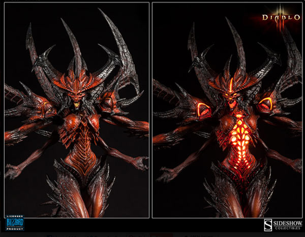 Sideshow Wants to Light Up Your Collectibles with its Illuminated Diablo Polystone Statue