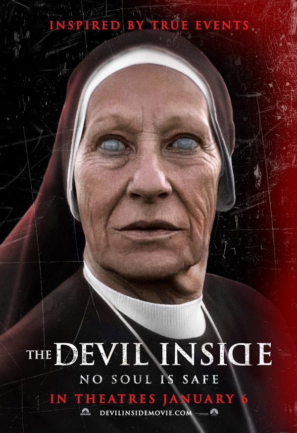 Nun Too Scary Bus Shelter and Billboard Art for The Devil Inside