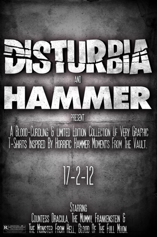 Disturbia Clothing to Present Limited Edition Hammer Films Line