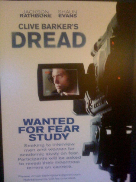 New Poster for Clive Barker's Dread!