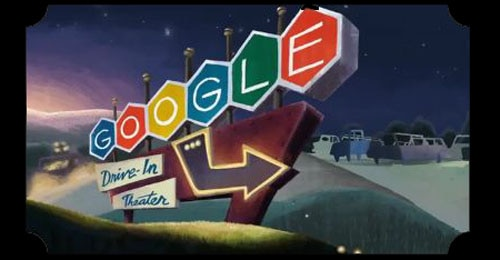 Google Celebrates 79 Years of Drive-Ins with a Scare