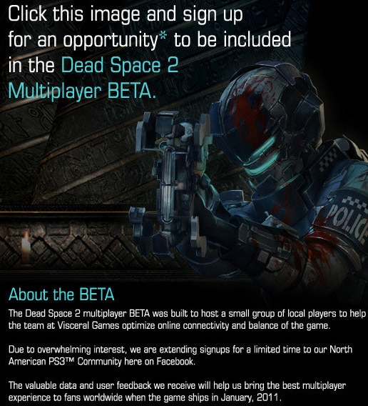 Act Quickly to Join the Dead Space 2 Multiplayer Beta