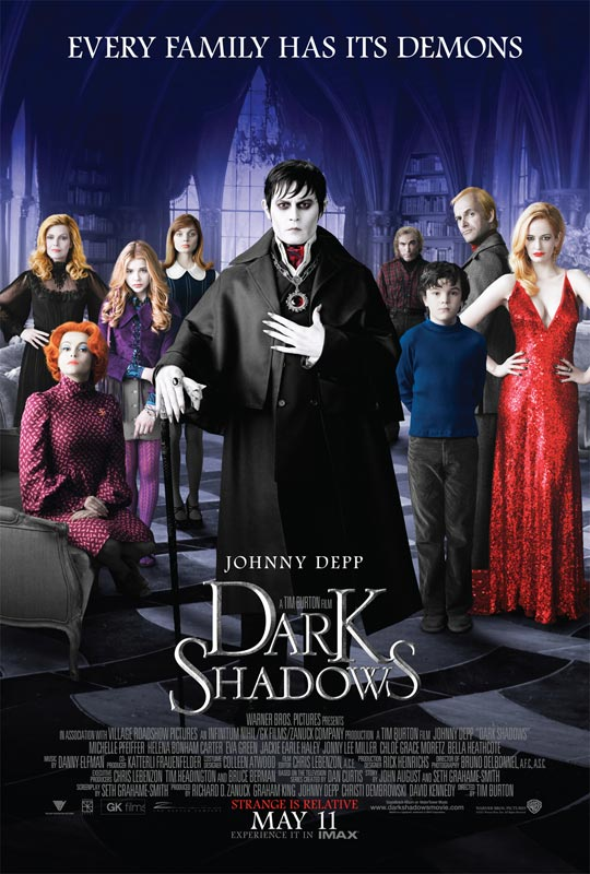 Johnny Depp Vamps Out in Latest Dark Shadows Imagery