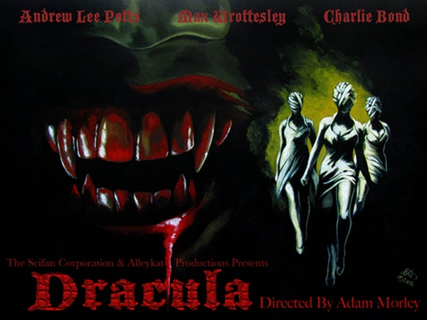 Primeval star Andrew Lee Potts and Scream Queen Charlie Bond Face Dracula in Terrifying New Play