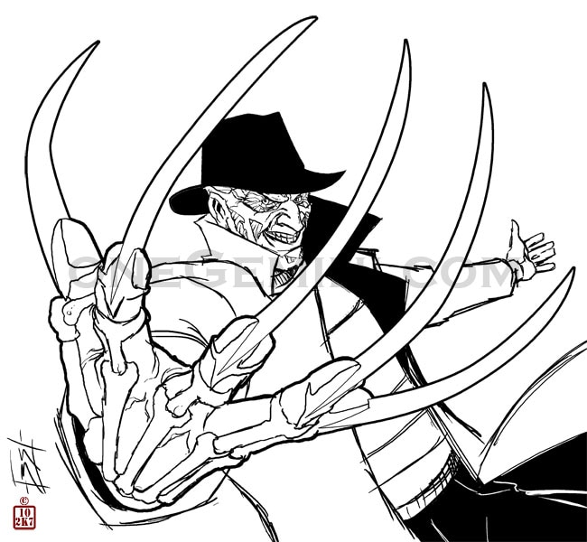 Freddy kruger coloring pages ~ 44 Amazing Works of Art Inspired by Freddy Krueger - Dread ...