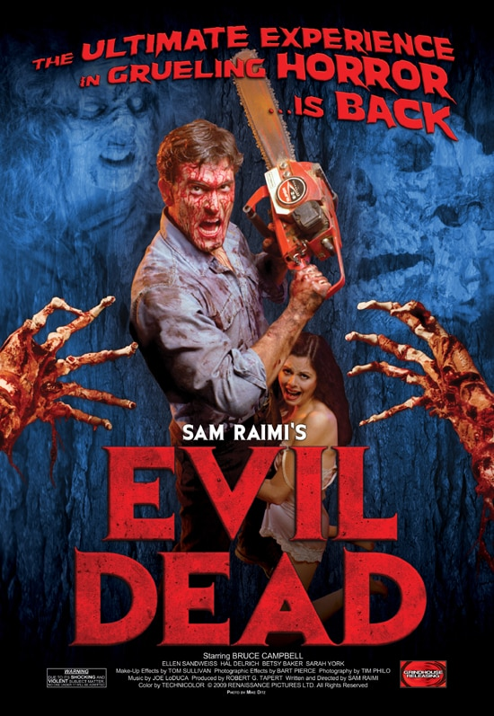 First Playdates for Sam Raimi's Evil Dead Re-release
