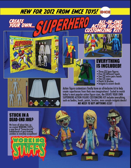 Toy Fair 2012: A Sneak Peek of Emce Toys' Working Stiffs, Shock Puppets, and A Very Scary Christmas Snowglobes