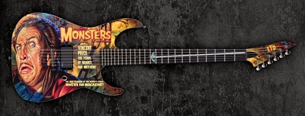 Limited Edition Vincent Price Electric Guitar Available Now