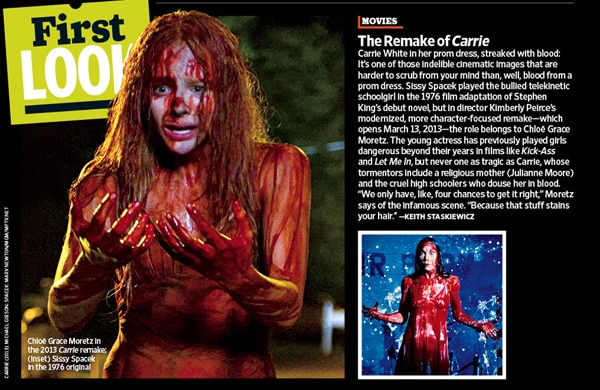 First Bloody Image of Chloe Moretz in Carrie and More! (click for larger image)