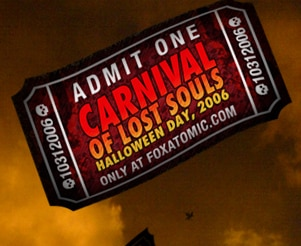 Fox Atomic's Carnival of Lost Souls invite (click to see it full size!)