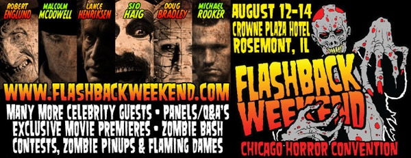 Flashback Weekend Chicago Horror Convention Sets its Schedule for This Weekend's Festivities