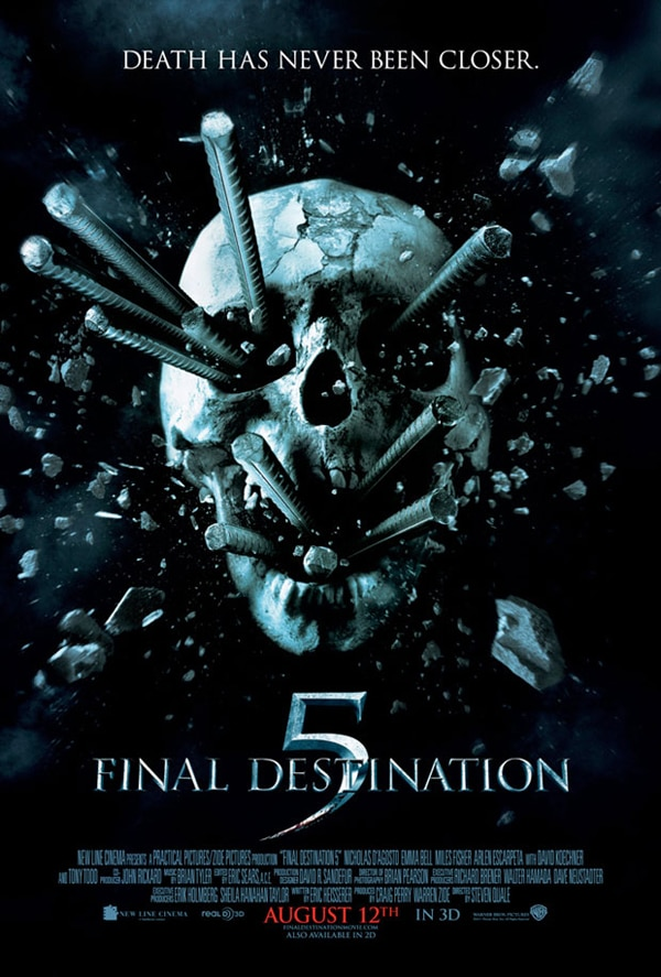 Three Final Destination 5 TV Spots Bring Death Home